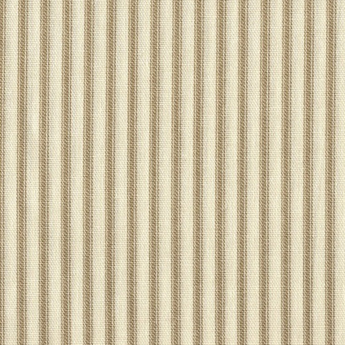 French Country Linen Beige Ticking Stripe Tailored Bedskirt