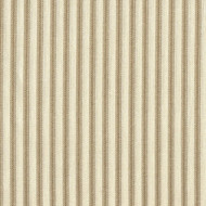 French Country Linen Beige Ticking Shower Curtain