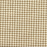French Country Linen Beige Gingham Gathered Bedskirt