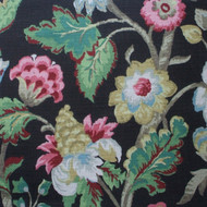 Elizabeth Floral Walnut Empress Swag Valance, Lined