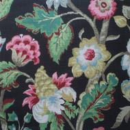 Elizabeth Floral Walnut Scallop Valance, Lined