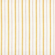 Piper Honey Gold Stripe Round Tablecloth with Topper
