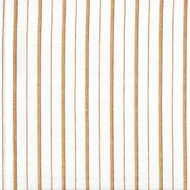 Piper Sand Brown Stripe Round Tablecloth with Topper