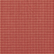 French Country Crimson Gingham Scallop Valance, Lined