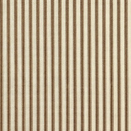 French Country Suede Brown Ticking Pinch-Pleated Curtain Panels