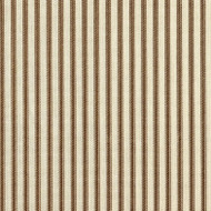 French Country Suede Brown Ticking Bradford Valance, Lined