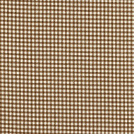 French Country Suede Brown Gingham Pinch-Pleated Curtain Panels