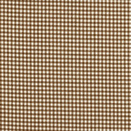 French Country Suede Brown Gingham Bradford Valance, Lined
