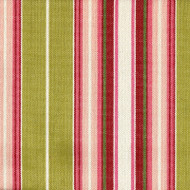 Belmont Honeydew Pink and Green Stripe Gathered Bedskirt