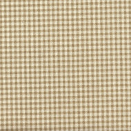 French Country Linen Beige Gingham Rod Pocket Curtain Panels