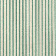 French Country Pool Green Ticking Round Tablecloth with Topper