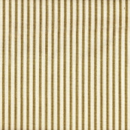 French Country Chartreuse Ticking Pinch-Pleated Curtain Panels