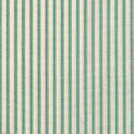 French Country Pool Green Ticking Tailored Valance, Lined