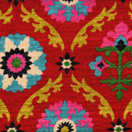 Mayan Medallion Desert Flower Scallop Valance, Lined