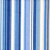 Victoria Lagoon Stripe Round Tablecloth with Topper