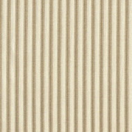 French Country Linen Beige Ticking Scallop Valance, Lined