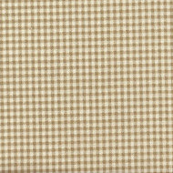 French Country Linen Beige Gingham Tie-Up Valance, Lined