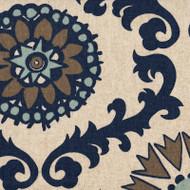 Rosa Indigo Round Tablecloth