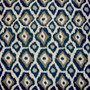 Adrian Indigo Round Tablecloth with Topper