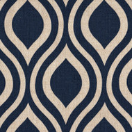 Nicole Indigo Pinch-Pleated Curtain Panels