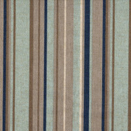 Premier Stripe Indigo Scallop Valance, Lined
