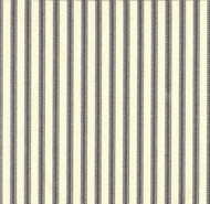 French Country Brindle Gray Ticking Pinch-Pleated Curtain Panels