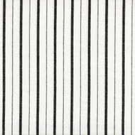 Piper Black Stripe Pinch-Pleated Curtain Panels