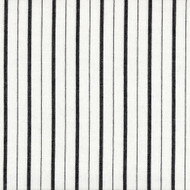Piper Black Stripe Rod Pocket Curtain Panels