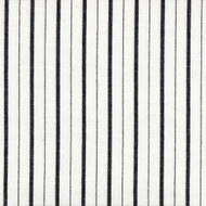 Piper Black Stripe Round Tablecloth with Topper