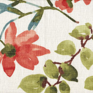 Gazebo Umber Floral Coral Shower Curtain