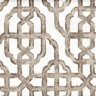 Imperial Bisque Gray Taupe Lattice Shower Curtain