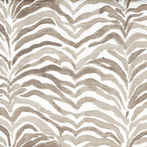 Serengeti Bisque Gray Animal Print Shower Curtain Close