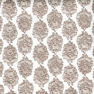 Zira Bisque Gray Medallion Block Print Shower Curtain