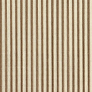 French Country Suede Brown Ticking Pinch-Pleated Patio Door Curtain Panels