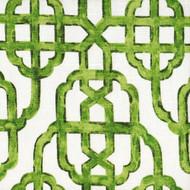 Imperial Jade Green Lattice Shower Curtain