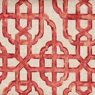 Imperial Coral Lattice Shower Curtain