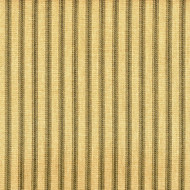 French Country Document Green Ticking Pinch-Pleated Patio Door Curtain Panels