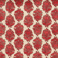 Zira Coral Khaki Medallion Shower Curtain