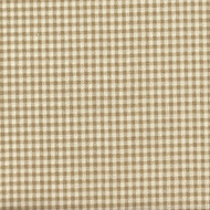 French Country Linen Beige Gingham Check Rod Pocket Patio Door Curtain Panels