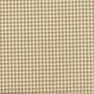 French Country Linen Beige Gingham Pinch-Pleated Patio Door Curtain Panels