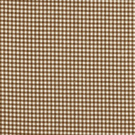 French Country Suede Brown Gingham Pinch-Pleated Patio Door Curtain Panels