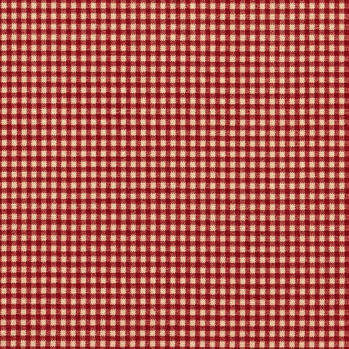 French Country Crimson Red Gingham Rod Pocket Patio Door