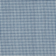 French Country Nautical Blue Gingham Pinch-Pleated Patio Door Curtain Panels