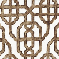 Imperial Cafe Brown Lattice Round Tablecloth with Topper