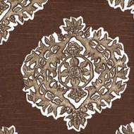 Madras Cafe Brown Medallion Empress Swag Valance, Lined