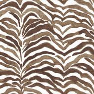 Serengeti Cafe Brown Animal Print Tab Top Curtain Panels