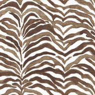 Serengeti Cafe Brown Animal Print Rod Pocket Tailored Tier Curtain Panels