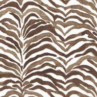 Serengeti Cafe Brown Animal Print Bradford Valance, Lined