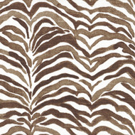 Serengeti Cafe Brown Animal Print Round Tablecloth with Topper