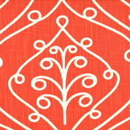 Barcelona Salmon Orange Scroll Shower Curtain
